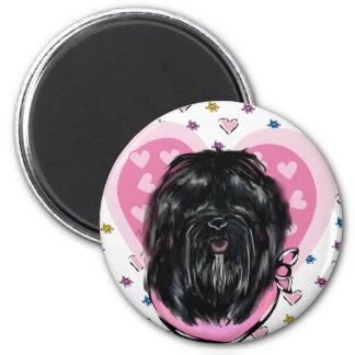 Hundemutter-Tag Havanas Silk Runder Magnet 5,7 Cm