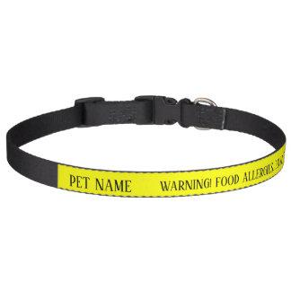 Hundenahrungsmittelallergie FÜTTERN NICHT wachsame Haustierhalsband