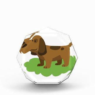 Hundeniedlicher Cartoonentwurf Acryl Auszeichnung