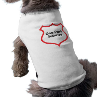 Hundepark-Sicherheit Ärmelfreies Hunde-Shirt
