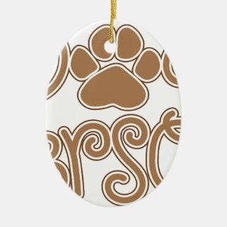 Hundeperson Keramik Ornament