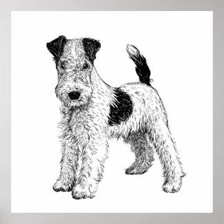 Hundeplakat-/-wand-Kunst-Foxterrier Poster
