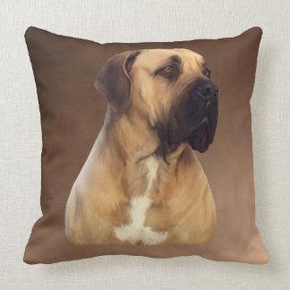 Hundeporträt-Malerei Dogue De Bordeaux Mastiff Kissen