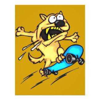 HundereitSkateboard Flyer Druck