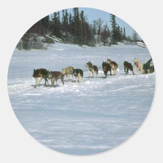 Hunderennen, Yukon Runder Aufkleber