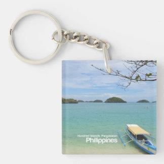 Hundert Inseln, Pangasinan Philippinen Keychain Schlüsselanhänger