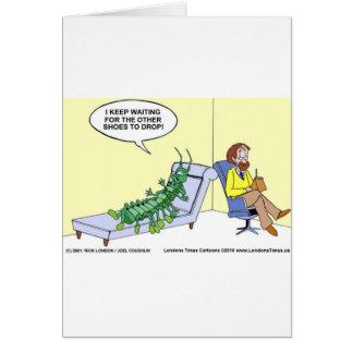 Hundertfüßer-Psychiatrie-lustige Karten-Tassen u. Karte