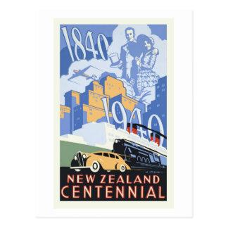 Hundertjährige Vintage Reise Neuseelands Postkarte