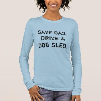 Hundeschlitten Langarm T-Shirt