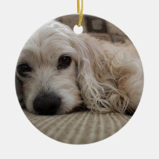 Hundeshirt Rundes Keramik Ornament