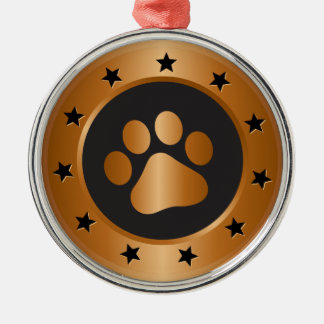 Hundeshow-Sieger-Bronzemedaille Silbernes Ornament