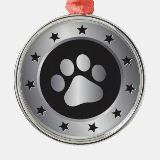 Hundeshow-Sieger-Silbermedaille Silbernes Ornament