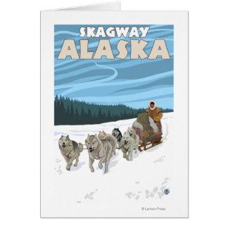 HundeSledding Szene - Skagway, Alaska Karte