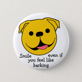 Hundesmiley-Button Runder Button 5,7 Cm