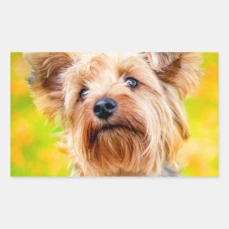 Hundesommertage! Rechteckiger Aufkleber