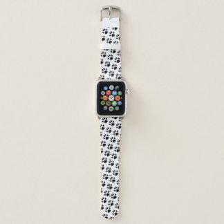 Hundetatzen-Druck-Schwarz-weißes Muster Apple Watch Armband