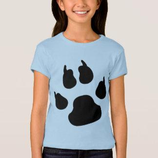 Hundetatzen-Druck T-Shirt