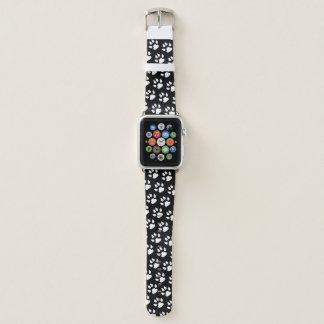Hundetatzen-Druck-weißes schwarzes Muster Apple Watch Armband