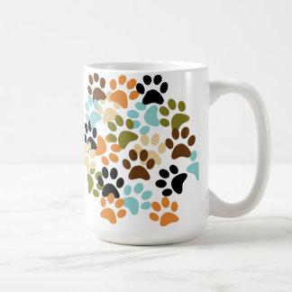Hundetatzen-Druckmuster Kaffeetasse