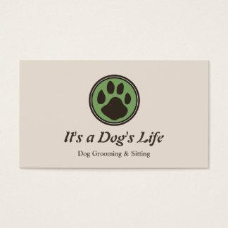 Hundetatzen-Logo-Haustier-Sitzen und Pflegen Visitenkarte