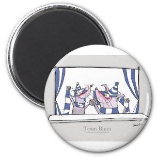 Hundeteam-Blues für immer Runder Magnet 5,7 Cm