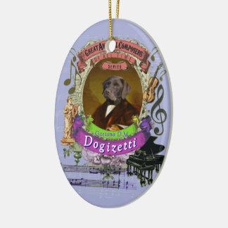 Hundetierkomponist Donizetti Gaetano Dogizetti Keramik Ornament