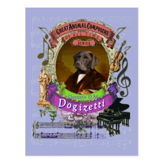 Hundetierkomponist Donizetti Gaetano Dogizetti Postkarte