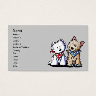 HundeVisitenkarte-Entwurf mit KiniArt Terriern Visitenkarte