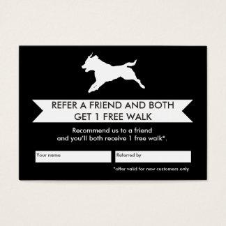 Hundewanderer-Empfehlungs-Karte - Personalizable Jumbo-Visitenkarten