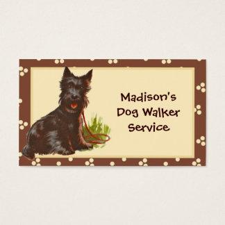 Hundewanderer-Haustier-Modell-Visitenkarte Visitenkarte