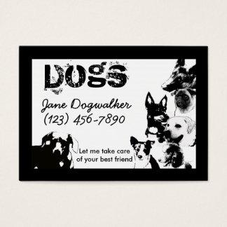 Hundewanderer Jumbo-Visitenkarten