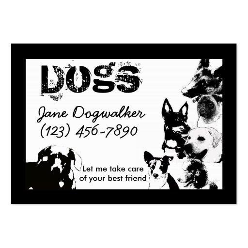 Hundewanderer Visitenkartenvorlage