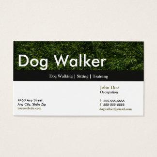 Hundewanderer-Visitenkarte-Verabredungs-Karte Visitenkarte