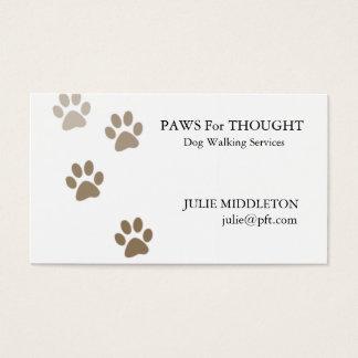 Hundewanderer-Visitenkarte Visitenkarten