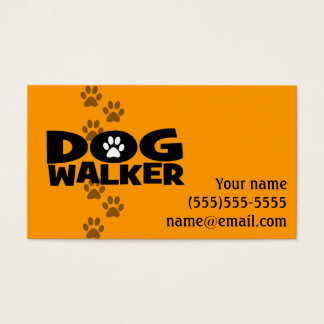 Hundewanderer völlig kundengerechtes Promo-Karte Visitenkarte