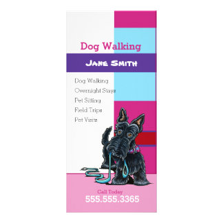 Hundewandererscottie-kariertes Werbekarten