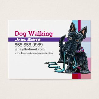 Hundewandererscottie-Rosa-lila kariertes Visitenkarte