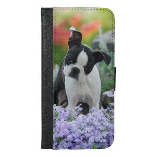 Hundewelpe Bostons Terrier - schützen Sie sich iPhone 6/6s Plus Geldbeutel Hülle