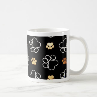 Hundewelpen-Tatze druckt Geschenke für Kaffeetasse
