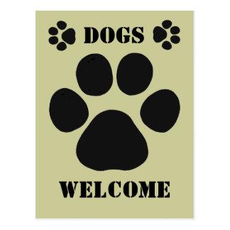 HundeWillkommensschild Postkarte