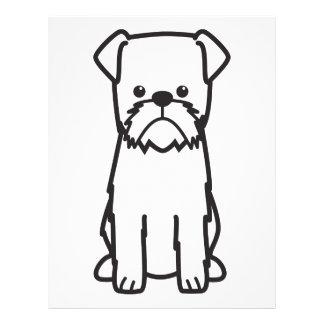 Hundezucht-Cartoon Brüssels Griffon Flyer