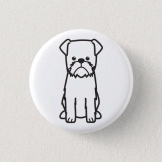 Hundezucht-Cartoon Brüssels Griffon Runder Button 3,2 Cm