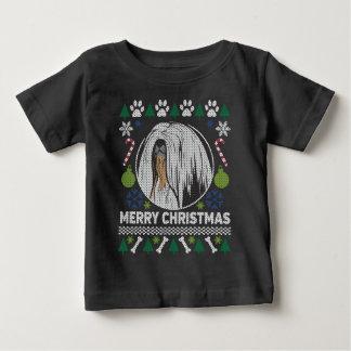 Hundezucht-hässliche Weihnachtsstrickjacke Lhasas Baby T-shirt