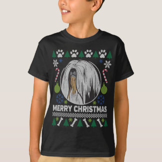 Hundezucht-hässliche Weihnachtsstrickjacke Lhasas T-Shirt