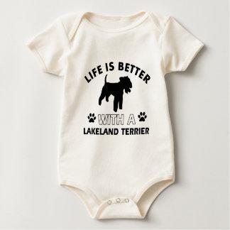 Hundezuchtentwürfe Lakelands Terrier Baby Strampler