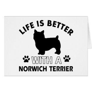 Hundezuchtentwürfe Norwichs Terrier Karte