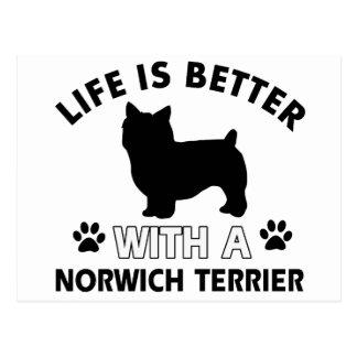 Hundezuchtentwürfe Norwichs Terrier Postkarte