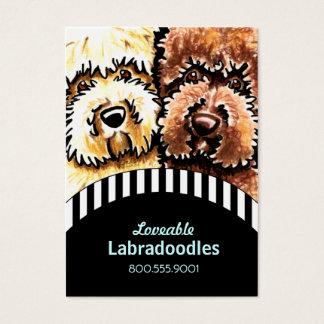 Hundezüchter Labradoodle schwarze Streifen Jumbo-Visitenkarten