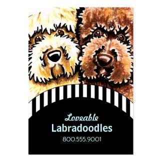 Hundezüchter Labradoodle schwarze Streifen Mini-Visitenkarten