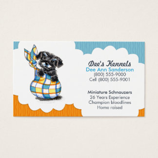 Hundezüchterschnauzer-Welpen-Blau-Zitrusfrucht Visitenkarten